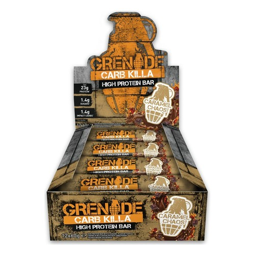 Grenade Carb Killa 12 x 60g Protein Bars - Caramel Chaos