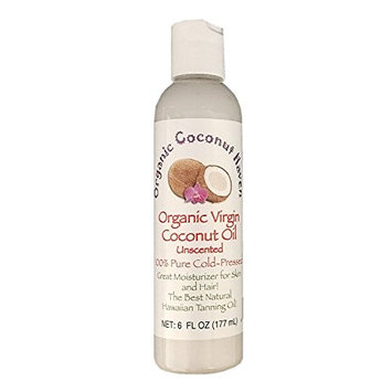 Organic Virgin Coconut Oil Pure-Cold Pressed 6oz. for Skin & Hair