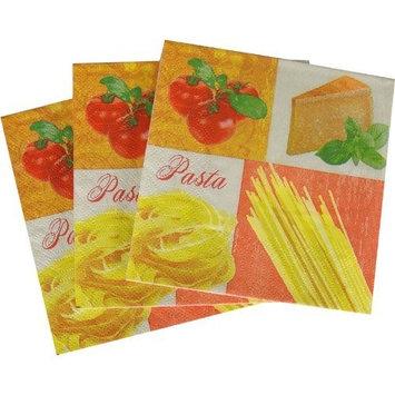 Pasta Culinaire Set of 20 Beverage luncheon Napkins