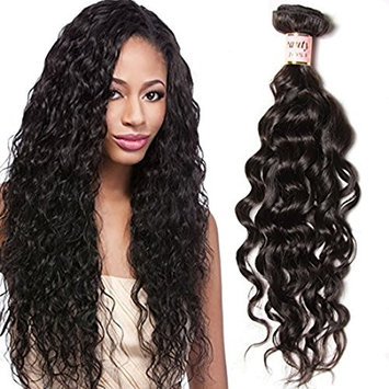 Beauty Forever 6A Brazilian Virgin Hair Natural Water Wave 3 pcs Wet and Wavy Hair Weave Bundles 100% Unprocessed Human Hair Extensions Natural Color
