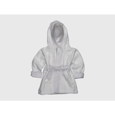 Baby Girl's Juicy Couture White Hooded Bath Robe One Size 100% Cotton