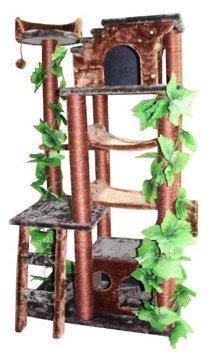 Kitty Mansions Mini-Amazon Green Cat Tree Furniture