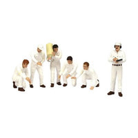 True Scale Miniatures 10AC07 F1 Pit Crew Figurines Classic Style White Set of 6 Piece for 1-18 Scale Models