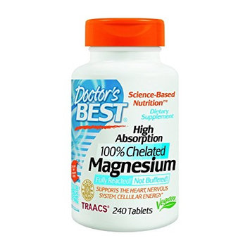 Doctor's Best Doctor's Best High Absorption Magnesium (100 Mg Elemental) - 240 ct (Pack of 5)