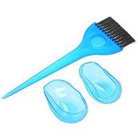 3Pcs Hair Dyeing Set Brush & Ear Cover Protection Earmuffs Hair Salon Tinting Comb Hair Dyeing DIY Coloring HairbrushesTool