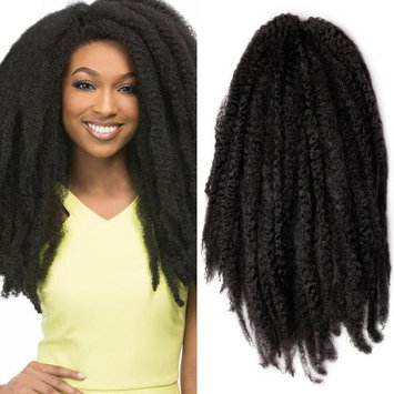 Pack of 3 Afro Kinky Marley 18 inch Braids Hair Extensions Synthetic Twist Crochet Braiding Hair