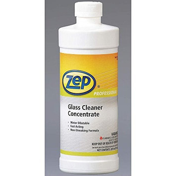 Zep Professional R04501 Glass Cleaner Concentrate, Rose Fragrance, Clear/Blue (12 Bottles of 20 oz)