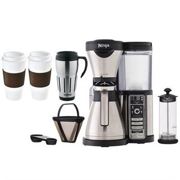 Ninja CF086 Coffee Bar Brewer w/ Thermal Carafe, Milk Frother, To-Go Mug Family Bundle