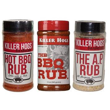 Killer Hogs The BBQ Rub, Hot BBQ Rub, and The A. P. Rub Tri-Pack Set