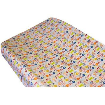 Go Mama Go Designs A is for Alien Cotton Changing Pad Cover