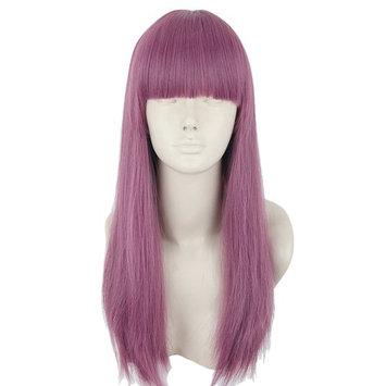Topcosplay Kids Wig Purple Long Mal Cosplay Wig Halloween Costumes Wigs for Child Girls