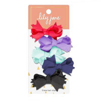 Lily Jane Bow Hair Clips - 5ct Multicolor