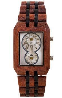 Tense Inuk J5400RD African Rosewood/Dark Sandalwood Quartz Men's Watch