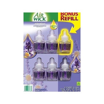 Air Wick Relaxation Lavender & Chamomile 6 Scented Oils Refills .71 Fl Oz Each