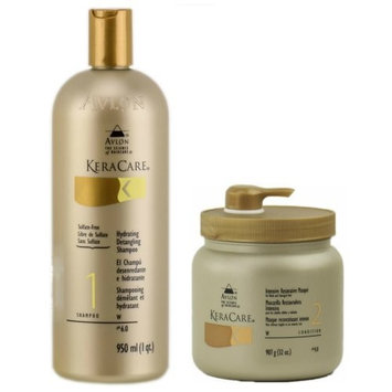 Avlon Keracare 1st Lather Shampoo 32oz + Intensive Restorative Masque 32oz
