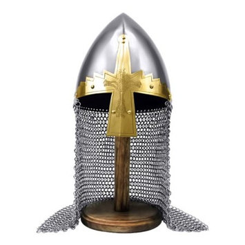 Armor Venue - Deluxe Norman Nasal Helm w/ Chainmail