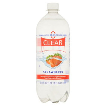 Sam's Choice Clear American Strawberry Sparkling Water, 33.8 fl oz