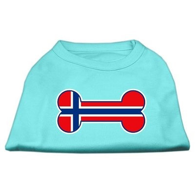 Mirage Pet Products 5119 SMAQ Bone Shaped Norway Flag Screen Print Shirts Aqua S 10