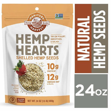 Manitoba Harvest Hemp Hearts Raw Shelled Hemp Seeds, 24oz; with 10g Protein & 12g Omegas per Serving, Non-GMO, Gluten Free