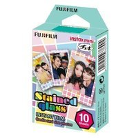 Fujifilm Fuji Instax Mini Films Stained Glass Instant Film, 10 Photos/pack