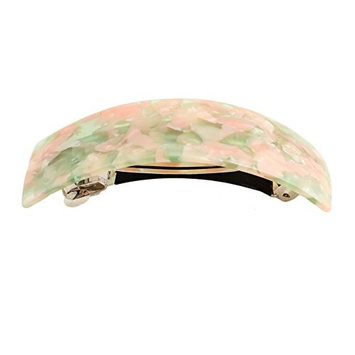 GSM Accessories Womens Cellulose Acetate Large Curved Rectangle Hair Clips Barrettes HC230-Ivory Tokyo