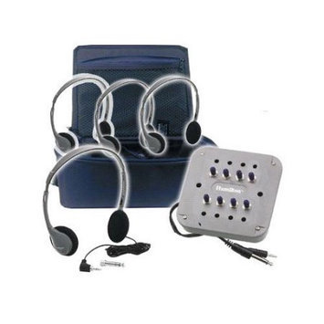 Hamilton Electronics CB - 4SVHA2 MP3 Listening Center - 4 Personal Headphones- Jackbox with Volume- Carry Case