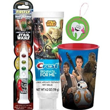 Star Wars Clone Soldier 3pc Bright Smile Oral Hygiene Set! (1) Star Wars Light up Toothbrush (1) Minty Breeze Toothpaste & Mouthwash Rinse Cup! Plus Bonus