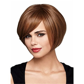 Finders BOBO Pixie Cut Wigs 8 Inch Women Wig Short Straight Natural Synthetic Wig Heat Resistant Bob Wig Brown Blonde