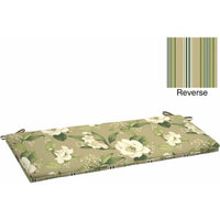 Better Homes and Gardens Outdoor Bench Cushion with Welt, Allie Tan Floral
