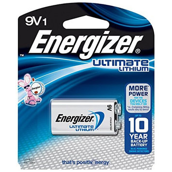 2 Pack Energizer Ultimate Lithium 9V Battery 1 Count Each