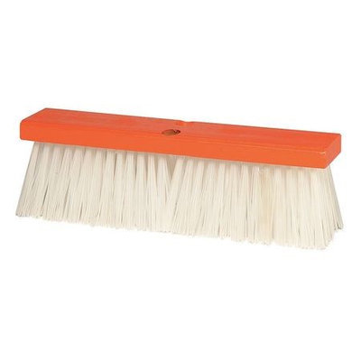 TOUGH GUY 4KNC8 Push Broom, PP, Rough Surface, Hrdwd Blk