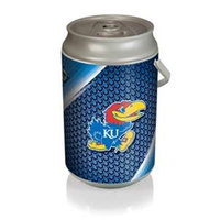 Picnic Time 686-00-000-244-0 Mega University of Kansas Jayhawks Digital Print Can Cooler in Silver/Gray