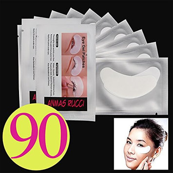 Baisidai 90 pcs Under Eye Pads Patch Taps for DIY False Eyelash Lashe Extension Makeup (90pcs)