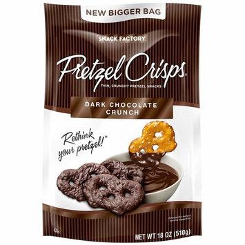 Snack Factory Pretzel Crisps Dark Chocolate Crunch, 36 Oz - (2 - 18oz Bags)