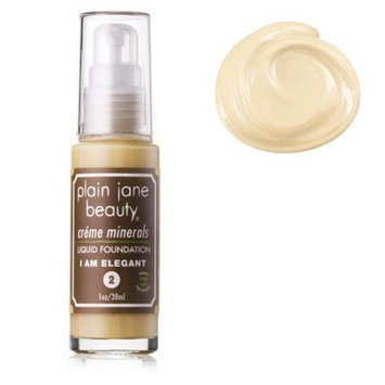 Plain Jane Beauty 232004 I Am Elegant 2 Creme Minerals Liquid Foundation