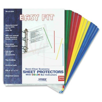 Schneider 61200 8.5 x 11 in. EasyFit Sheet Protectors Assorted Colors