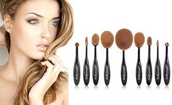Medex 10-Piece Oval Makeup Brush Set