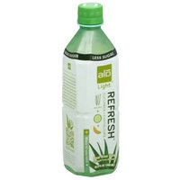 ALO Aloe Vera, Light, Refresh Cucumber + Cantaloupe, 16.9 Fluid Ounce (Pack of 6)