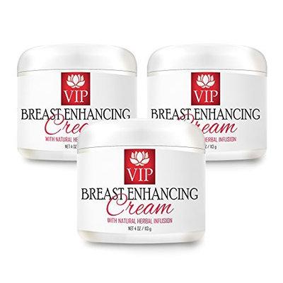 Rejuvenative moisturizer - BREAST ENHANCING CREAM With Natural Herbal Infusion - Moisturizer cream - 3 Jars - 12 Ounces