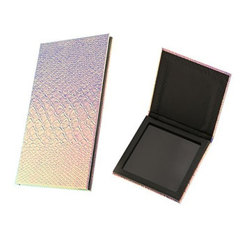 Homyl 2 Pieces Fashion Color Empty Magnetic Palette Container Organizer Box for Eyeshadow Powder Blush Makeup