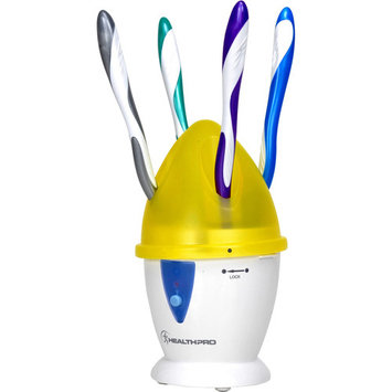 Wellness Oral Care Countertop Ultra-Violet Toothbrush Sanitizer, WEFC5Y, Yellow