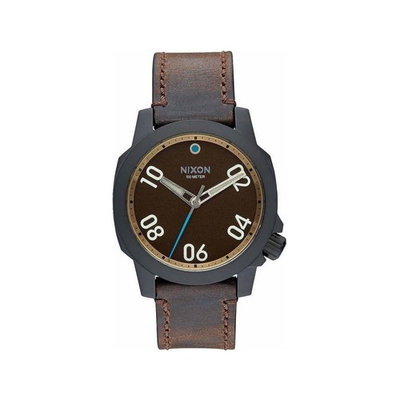 Nixon A471-2209 Men's Brown Leather Bracelet With Brown Analog Dial Watch NWT
