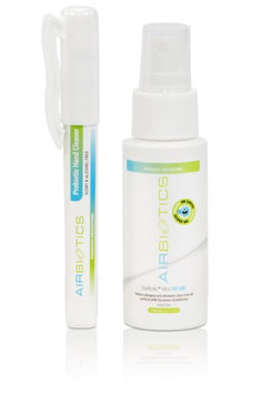 AirBiotics Probiotics To Go Mist & Hand Cleaner/Sanitizer with Natural Beneficial Probiotics, Scent & Alcohol Free