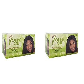 [ LIMITED PACK OF 2] VITALE OLIVE OIL ANTI-BREAKAGE CONDITIONING RELAXER SUPER : Beauty