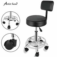 Artist Hand Adjustable Hydraulic 360 Degrees Swivel Hair Salon Stool Chair Tattoo Spa Barber Stool Chairs With Backrest