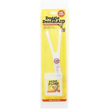 Doggie DentalAID 010-22 White Fido Floss Holder with Pink Letters