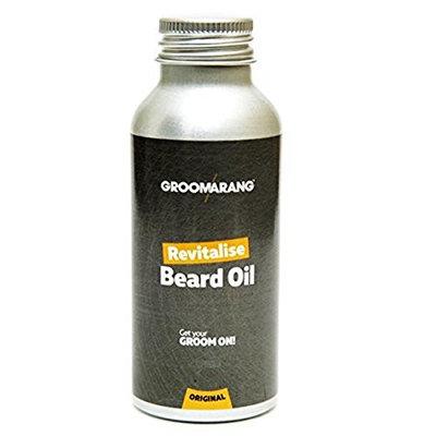 Groomarang Revitalise Beard Oil - Moisturiser & Conditioner For Soft Bearded Hair - 100% Natural, Organic & Vegan 30ml by Groomarang