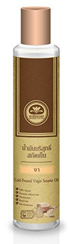Talaypu Virgin Sesame Oil (Cold-Pressed) for Hair and Skin, 7.10 fl. oz - 100% Natural, Processed without Heat, Chemical-free, Bleach-free, Non-deodorized!