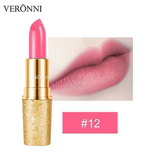 LtrottedJ VERONNI Lipstick ,Waterproof Long Lasting Golden Matte Lip Cosmetic Beauty Make
