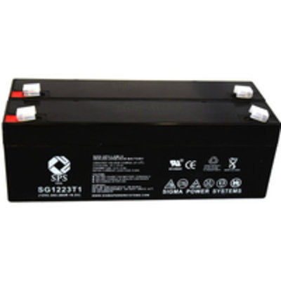 SPS Brand 12V 2.3 Ah Replacement Battery for Brentwood Instruments 320 DEFIB (2 pack)